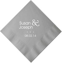Personalized Napkins - Modern Wedding