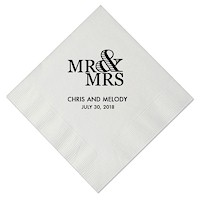 Personalized Napkins - Mr. And Mrs.
