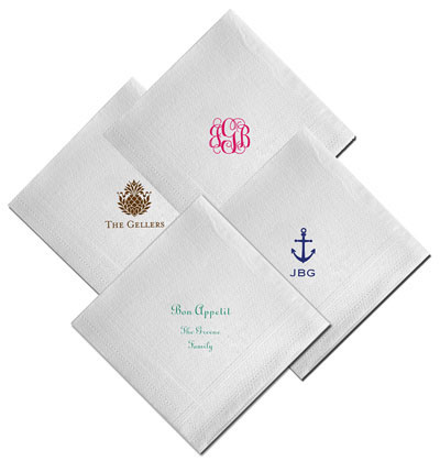Boatman Geller - Create-Your-Own Linen-Like Personalized Beverage Napkins