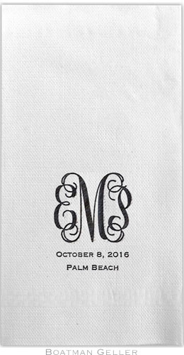 Boatman Geller - Linen-Like Personalized Guest Towels (Monogram)