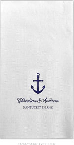 Boatman Geller - Linen-Like Personalized Guest Towels (Anchor)