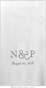 Boatman Geller - Linen-Like Personalized Guest Towels (2-Initials)
