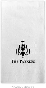 Boatman Geller - Linen-Like Personalized Guest Towels (Chandelier)