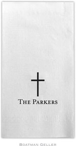 Boatman Geller - Linen-Like Personalized Guest Towels (Cross)