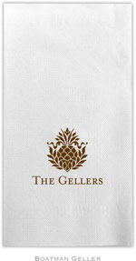 Boatman Geller - Linen-Like Personalized Guest Towels (Pineapple)