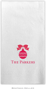 Boatman Geller - Linen-Like Personalized Guest Towels (Ornament)