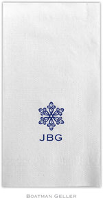 Boatman Geller - Linen-Like Personalized Guest Towels (Snowflake)