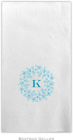 Boatman Geller - Linen-Like Personalized Guest Towels (Forget Me Not Floral Ring)