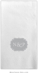 Boatman Geller - Linen-Like Personalized Guest Towels (Label)