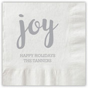 Boatman Geller - Letterpress Napkins (Joy Script)