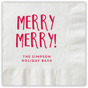 Boatman Geller - Letterpress Napkins (Merry Merry)