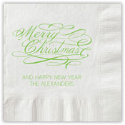 Boatman Geller - Letterpress Napkins (Merry Christmas Script)