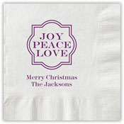 Boatman Geller - Letterpress Napkins (Joy Peace Love)