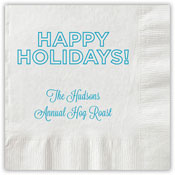 Boatman Geller - Letterpress Napkins (Holidays Outlined)