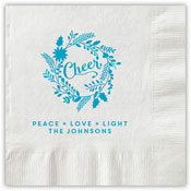 Boatman Geller - Letterpress Napkins (Cheer Wreath)