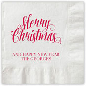 Boatman Geller - Letterpress Napkins (Scripty Christmas)