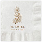 Boatman Geller - Letterpress Napkins (Brush & Pinecones)