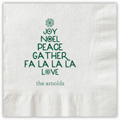 Boatman Geller - Letterpress Napkins (Joy Tree)