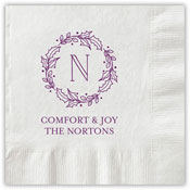 Boatman Geller - Letterpress Napkins (Initial Wreath)