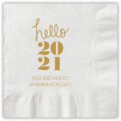 Boatman Geller - Letterpress Napkins (Hello Year)