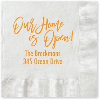 Letterpress Napkins by Boatman Geller (Our House is Open!)