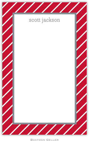 Boatman Geller - Create-Your-Own Personalized Notepads (Kent Stripe)