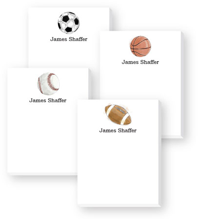 Cute Collection Notepads by Donovan Designs - Sports