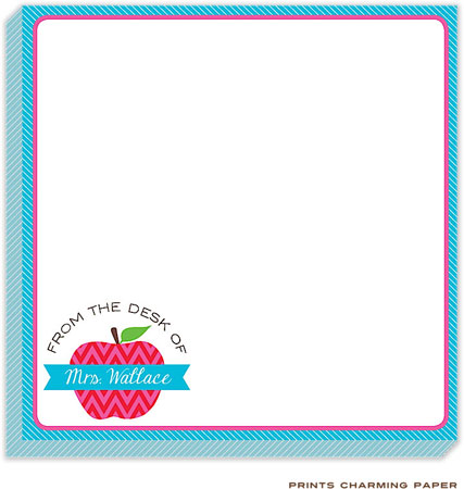 Prints Charming Notepads - Apple for the Teacher