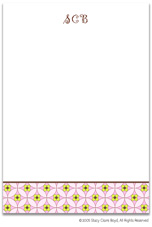 Stacy Claire Boyd Stationery - Floral Mosaic - Pink (Padded Stationery)