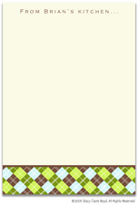 Stacy Claire Boyd Stationery - Argyle (Padded Stationery)