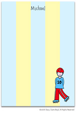 Stacy Claire Boyd Stationery - Rollerblade - Boy (Padded Stationery)