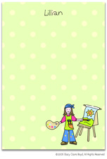 Stacy Claire Boyd Stationery - Painting Fun (Padded Stationery)
