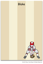 Stacy Claire Boyd Stationery - Baseball All-Star (Padded Stationery)