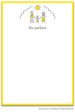 Stacy Claire Boyd Stationery - Sunshine Family - Boy (Padded Stationery)