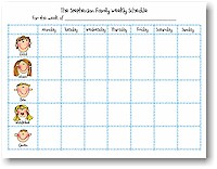 Starfish Art - Pads (Family Weekly Schedule Notepads)