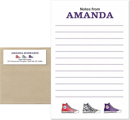 A Sugar Cookie Product - Camp Notepad Sets (Sneakers)