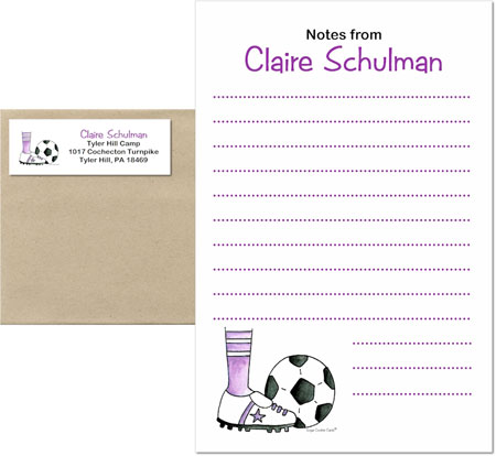 A Sugar Cookie Product - Camp Notepad Sets (Soccer Girl)
