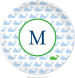 Boatman Geller - Personalized Melamine Plates (Whale Repeat)