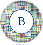 Boatman Geller - Personalized Melamine Plates (Madras Patch Blue)