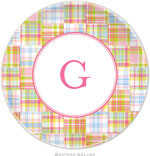 Boatman Geller - Personalized Melamine Plates (Madras Patch Pink)
