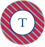 Boatman Geller - Personalized Melamine Plates (Repp Tie Red & Navy)