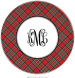 Boatman Geller - Personalized Melamine Plates (Plaid Red)