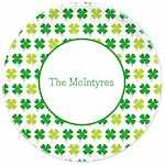 Boatman Geller - Personalized Melamine Plates (Shamrocks - St. Patrick's Day)