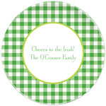 Boatman Geller - Personalized Melamine Plates (Classic Check Kelly and Lime - St. Patrick's Day)
