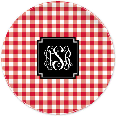 Boatman Geller - Create-Your-Own Melamine Plates (Classic Check)