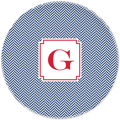 Boatman Geller - Create-Your-Own Melamine Plates (Herringbone)