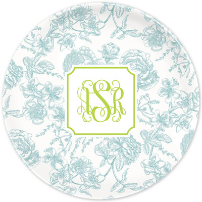 Boatman Geller - Create-Your-Own Melamine Plates (Floral Toile)