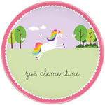 Boatman Geller - Personalized Melamine Plates (Unicorn)