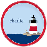 Boatman Geller - Personalized Melamine Plates (Lighthouse)