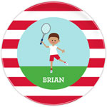 Boatman Geller - Personalized Melamine Plates (Tennis Player - Shorts)